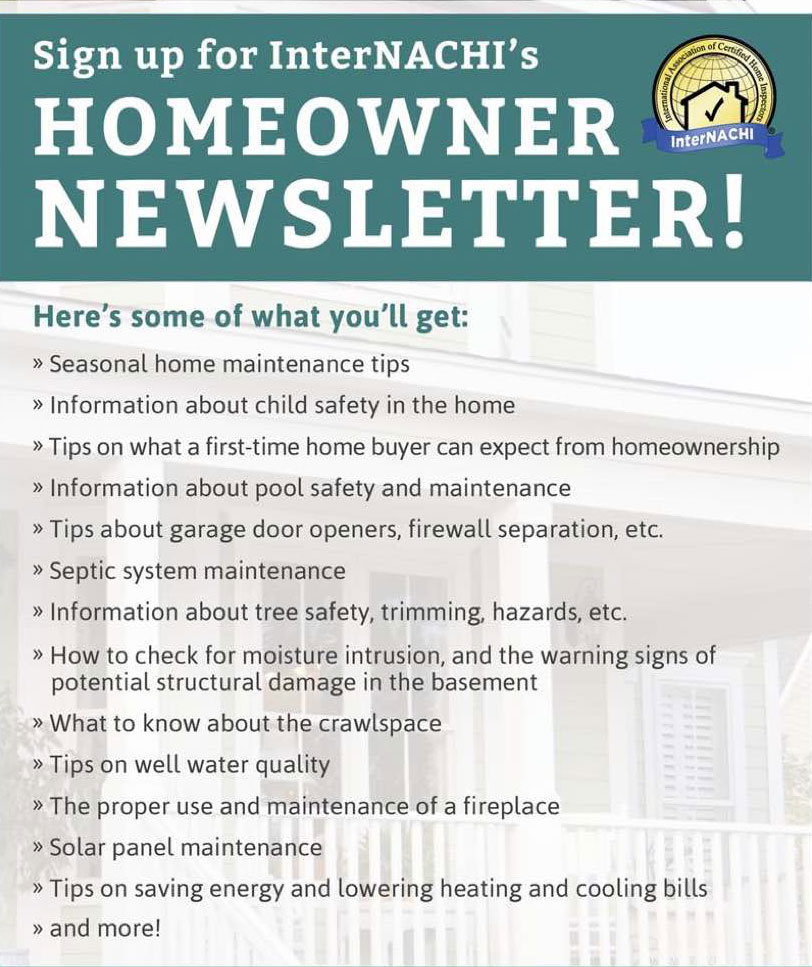 internachi homeowner newsletter